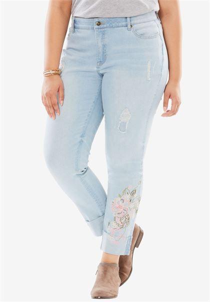 Girlfriend Jean | Plus Size No Gap Jeans | Woman Within