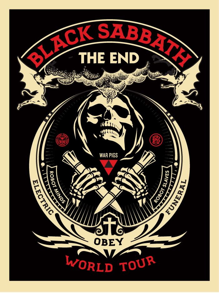I'm very sad that Black Sabbath, one of the greatest bands of all time, is currently on their final tour...