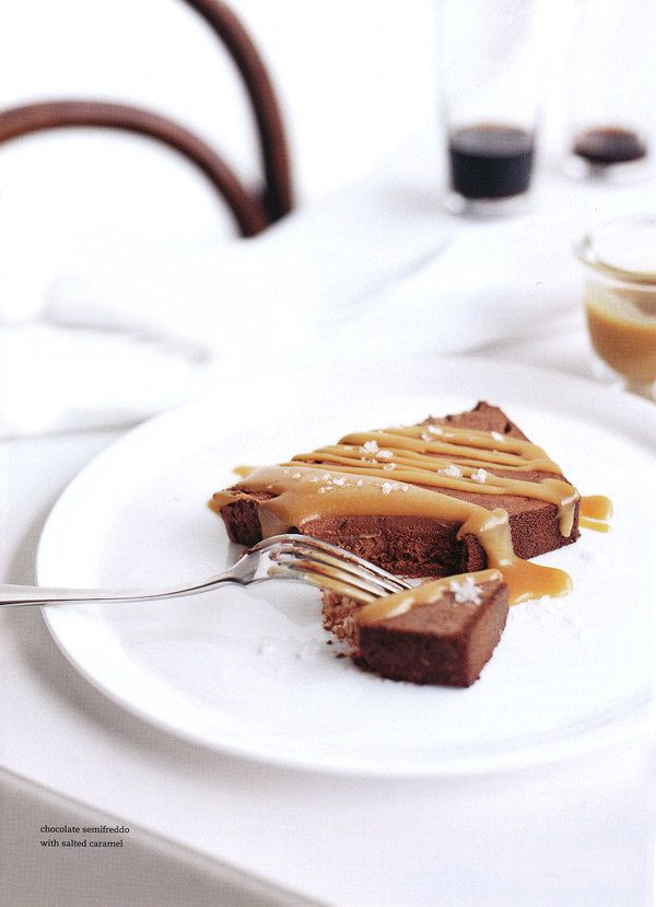 chocolate semifreddo, Donna Hay: Chocolates, Recipe, Sweet, Food, Donna Hay, Chocolate Caramels, Salted Caramels, Dessert