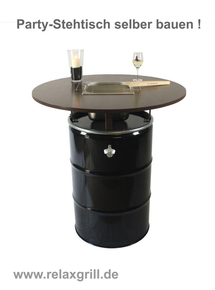 Partytisch aus Ölfass bauen