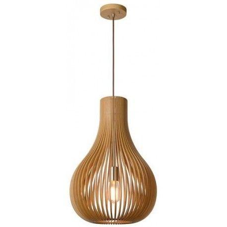 Nietuzinkowa drewniana lampa wisząca Bodo marki Lucide. https://blowupdesign.pl/pl/31-wiszace-stojace-lampy-drewniane-design-skandynawski #lampywiszące #oświetleni #lampydrewniane #oświetleniesalonu #woodenlamps #lighting #lightingstore