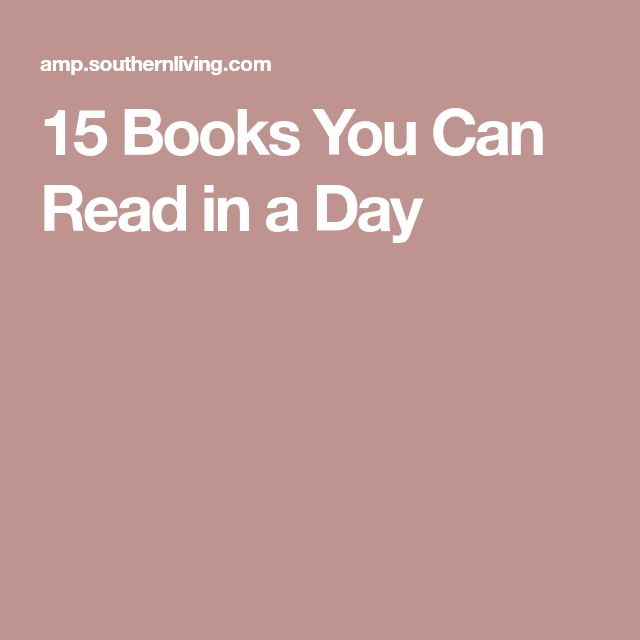 15 Books You Can Read in a Day