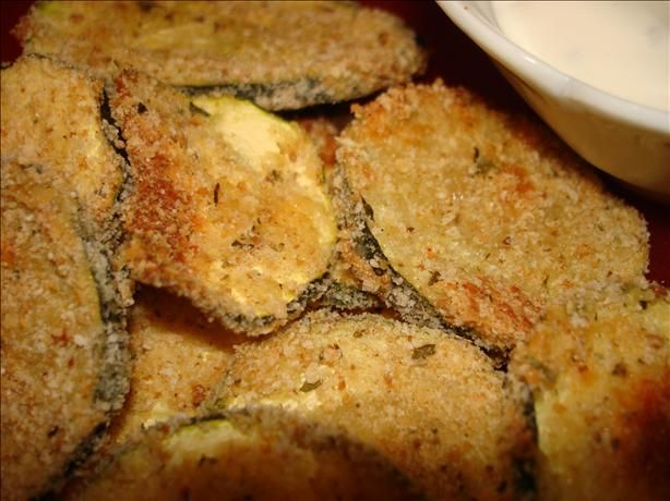 Even without the parmesan and parsley these Baked Zucchini chips were delicious and easy :)
