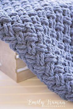 ... pattern I should choose! I went straight to Bernat Blanket yarn and