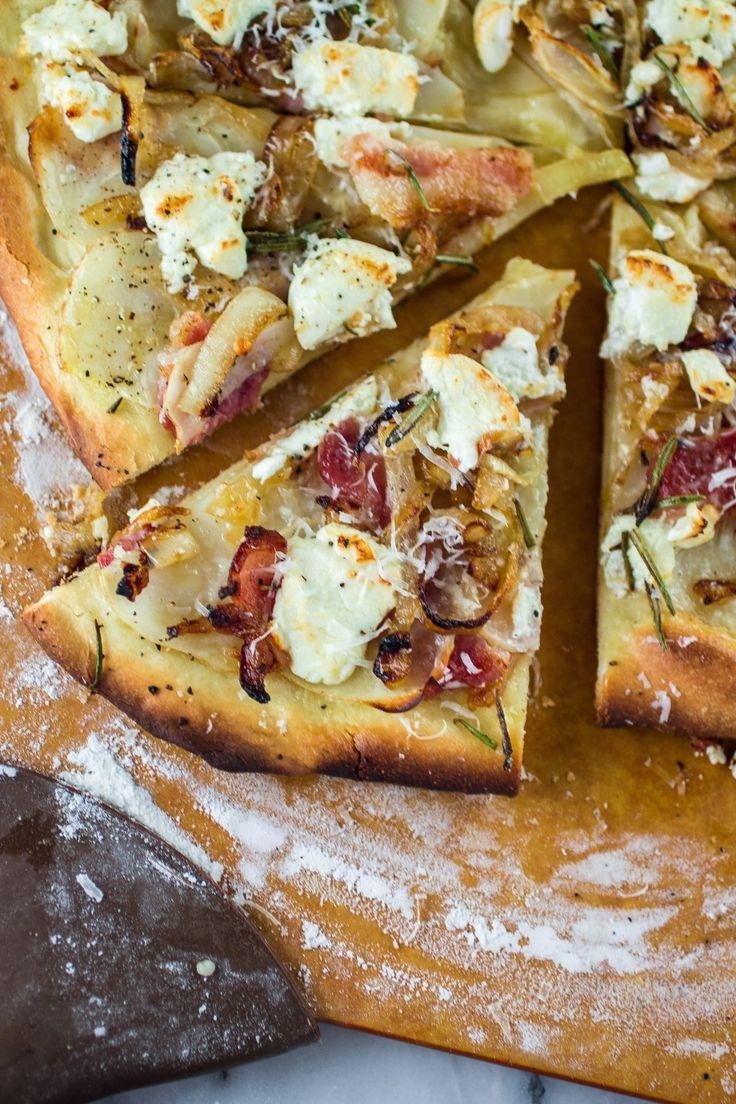 Potato, Bacon and Rosemary Pizza with Goat Cheese and Pecorino ...