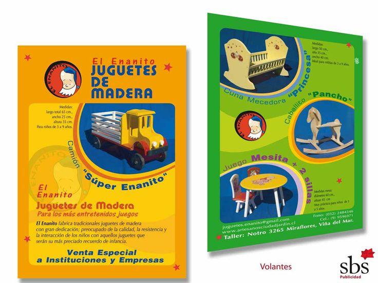 Flyer para Juguetes de madera.