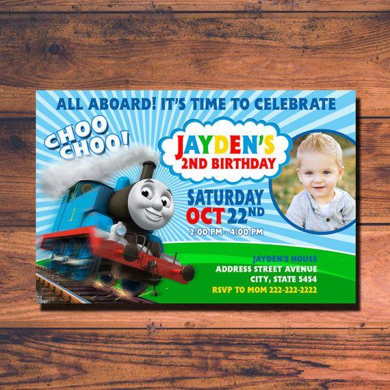 Thomas Train Birthday Invitation Thomas Train by RUMAHDESIGN