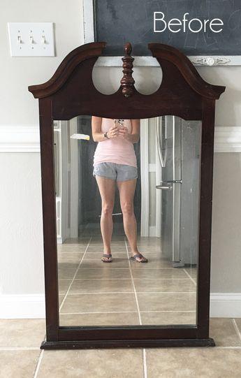 $6 Thrift Store Mirror Makeover