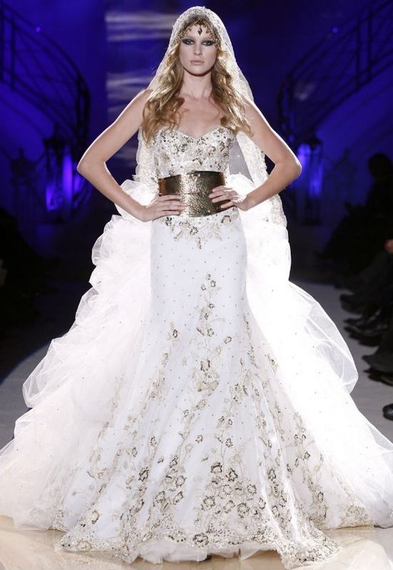 zuhair murad couture designer wedding dress