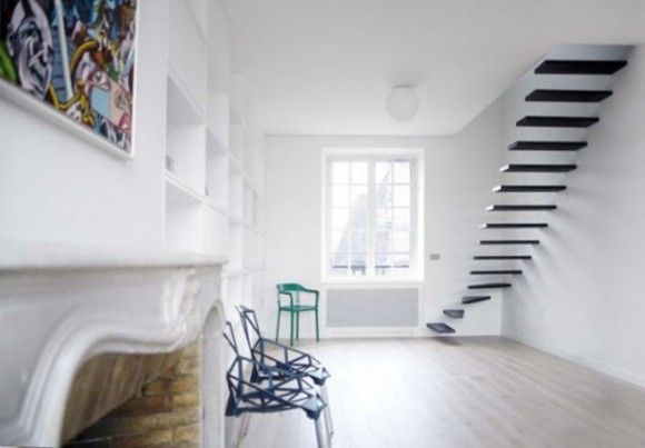 Flat #1 Modern Minimalist Interior Idea for Small Apartment Decorating from Ecole - Iroonie.com