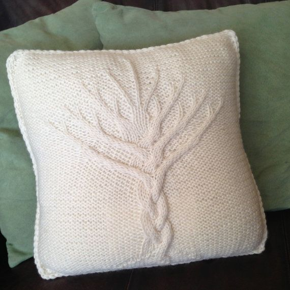 Knitting Patterns For Cushion Covers : Tree of Life knit pattern, Tree of Life pillow cover knitting pattern, Tree o...