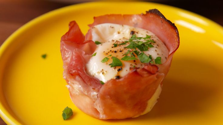 Ham & Cheese Egg Cups  - Delish.com