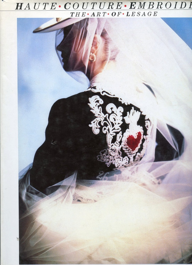 Couture embroidery fashion books and haute on
