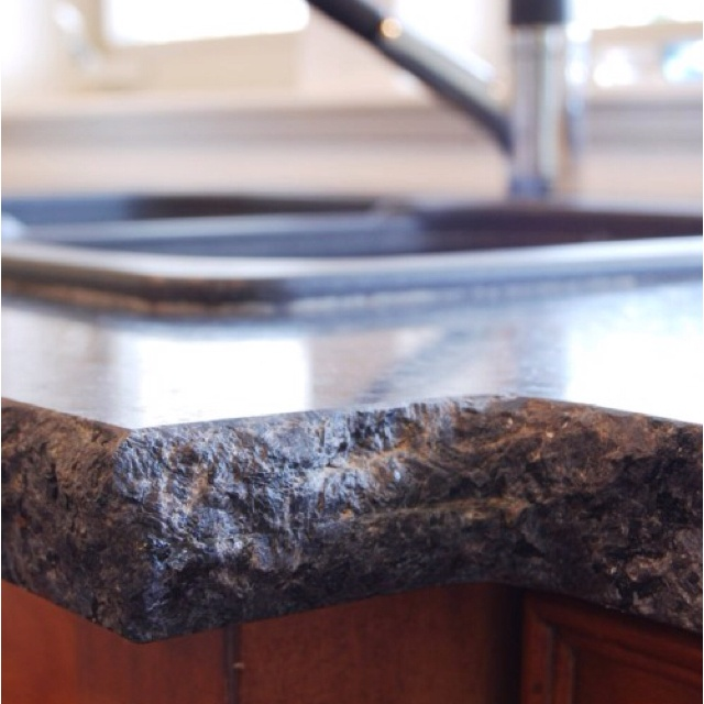 Granite Countertops Edges Best : Granite counter top with Raw Edge: Raw Edge, House Ideas, Counter Top ...