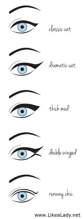Cute winged eyeliner techniques super cute !