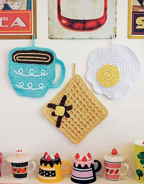 breakfast crochet dishcloths by twinkie chan