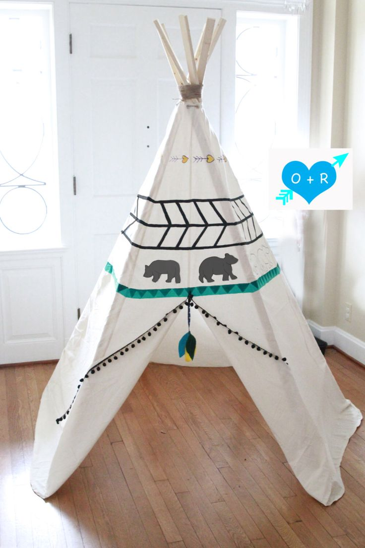 Hand Painted Teepee by OliverRichie on Etsy https://www.etsy.com/listing/215637833/hand-painted-teepee