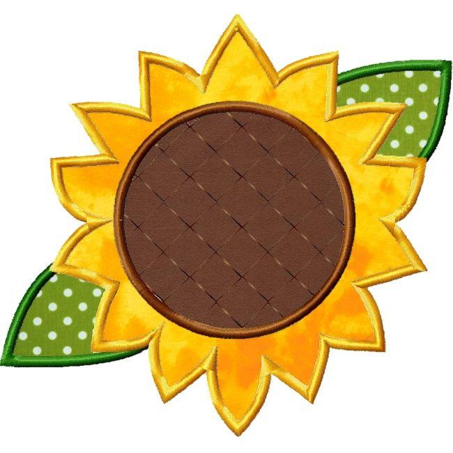 Sunflower Applique Design