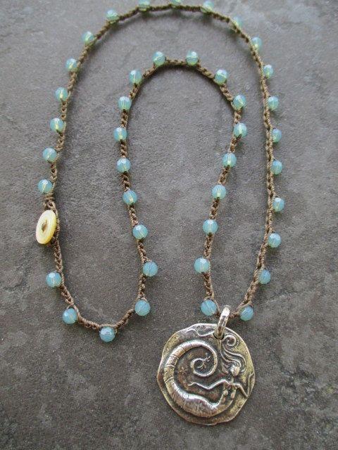 Mermaid crochet necklace - UnderWater Wonder
