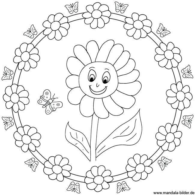 Mandala Sonnenblume Color My Kid Side Color Kid Mandalasonnenbl Disegni Di Mandala Da Colorare Disegno Di Mandala Attivita Con I Colori Scuola Materna