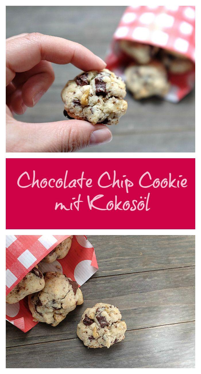 Chocolate Chip Cookies mit Kokosöl - Schnelle und leckere Rezepte, die glücklich machen - Mein kleiner Foodblog