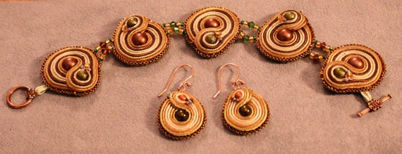 Big Damn Hero Handstiched Soutache Set by WickedLittleShop on Etsy, $46.00 inspired by Zoe from Firefly