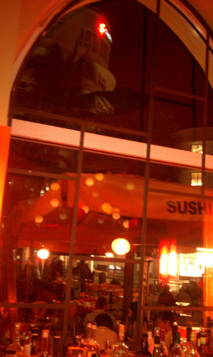 Inside #Sushi #Samba Restaurant and Lounge, Lincoln Road,South beach. Best Sushi EVER!