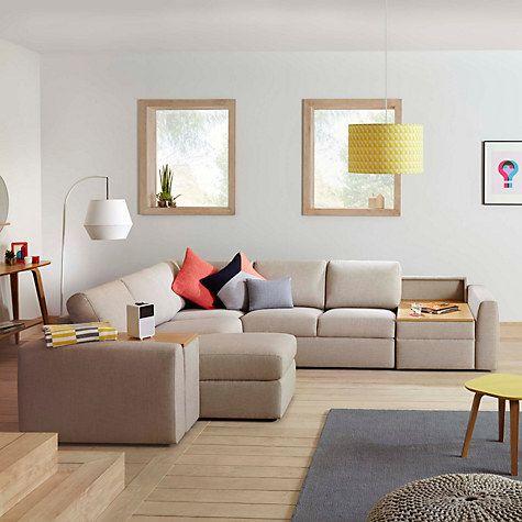 Sofa Slipcovers Buy House by John Lewis Finlay II LHF RHF Corner Chaise End Leather Sofa Online