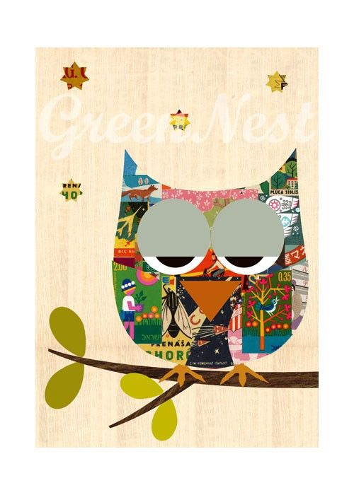 'Cute Vintage Matchbox Owl' by GreenNest