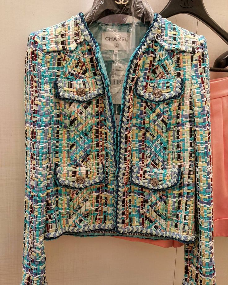 Chanel Jacket | How gorgeous is this? It looks like hand woven ribbon fabric