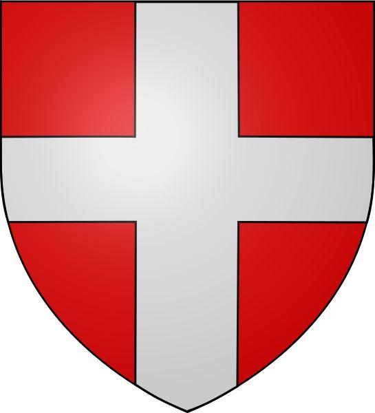 Armoiries des comtes de Savoie. Blasonnement : De gueules une croix d'argent.  Odejea — Travail personnel