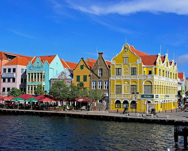 Willemstad on the island of Curacao: where the colors make it impossible to be in a bad mood.  My next cruise!