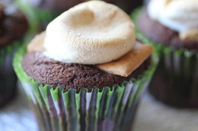 Skip The Frosting Cupcakes- Smores Style | Toni Spilsbury