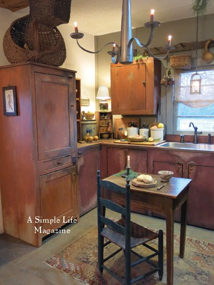 17 Best Images About Primitive Colonial Kitchens On Pinterest David Smith Country Sampler And