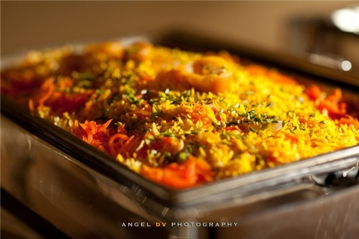 """The traditional wedding """"Shirin Polo"""" from Amir Catering."""
