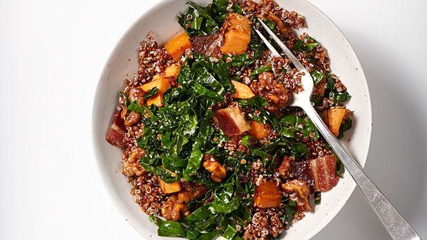 Quinoa, Sweet Potato, Walnuts, and Kale: A Grain Trust Recipe