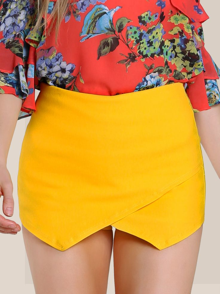 Shop Flap Shorts YELLOW online. SheIn offers Flap Shorts YELLOW & more to fit your fashionable needs.