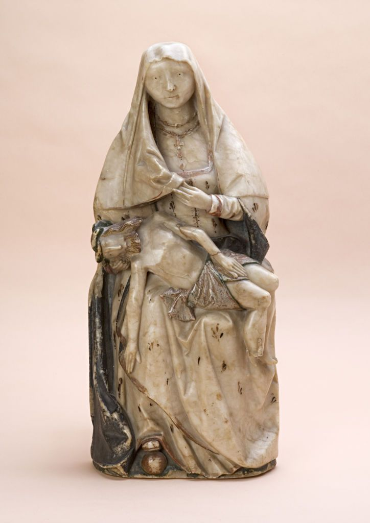 An alabaster relief of the Pieta, German, 15th Century ...