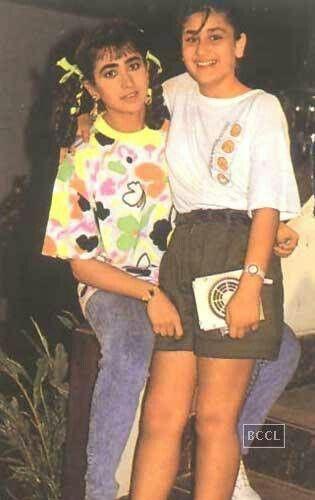 Bollywood sis-karishma and kareena kapoor old pic