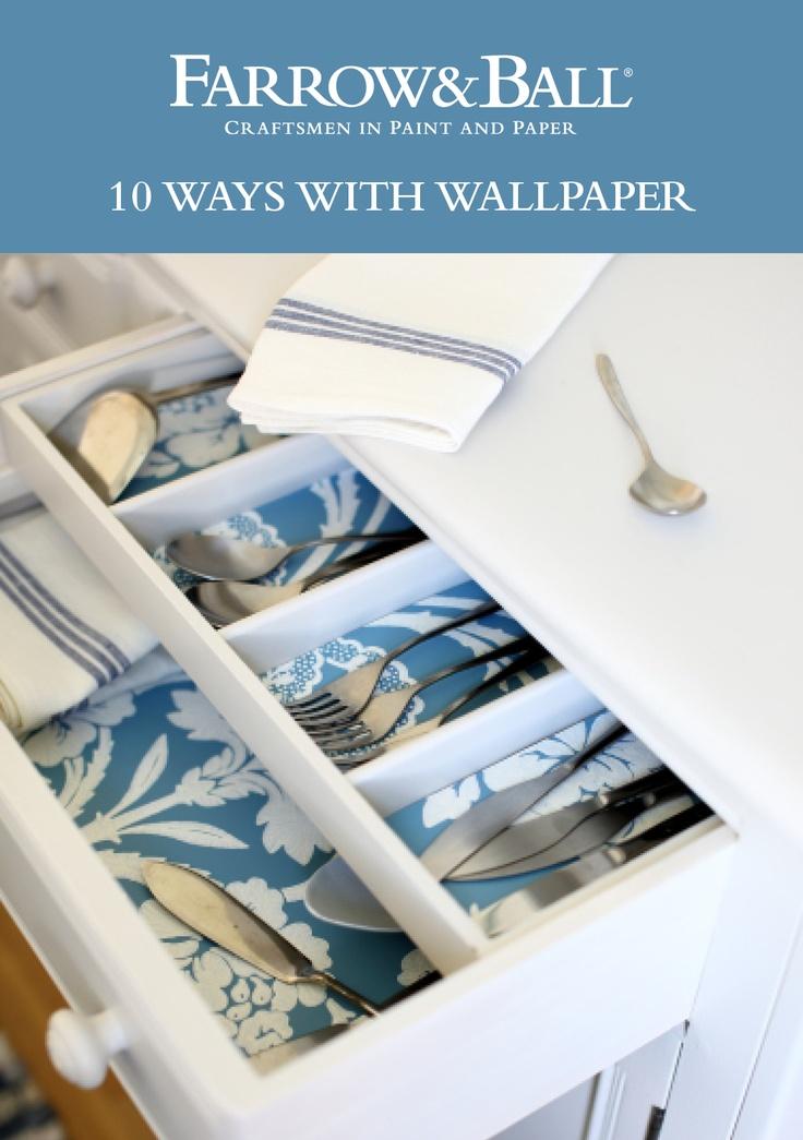 10 ideas for wallpaper via Farrow & Ball