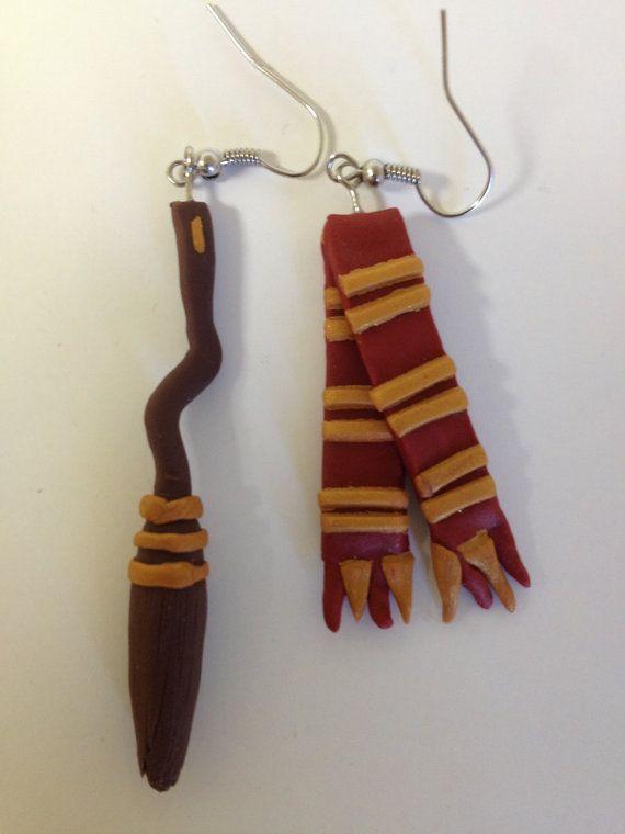 Handmade Harry Potter Polymer Clay Firebolt by PaperLotusGallery, $20.00