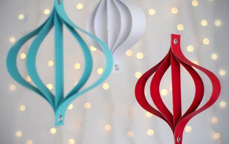 Fantásticos adornos navideños de papel