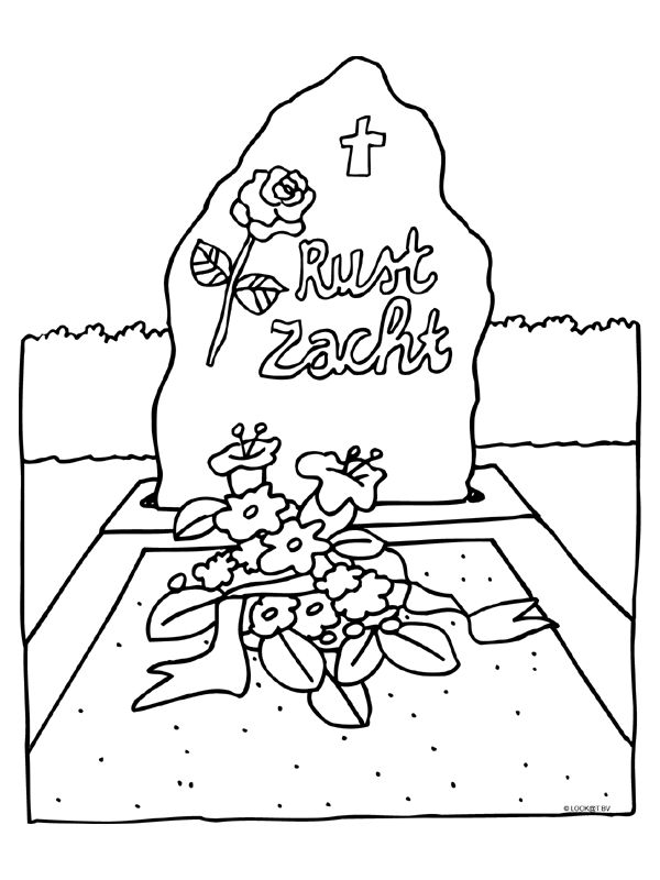 We4you2, Kleurplaten van Dood en begrafenis