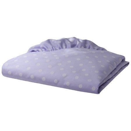Percale Fitted Crib Sheet Pastel Dot : Target