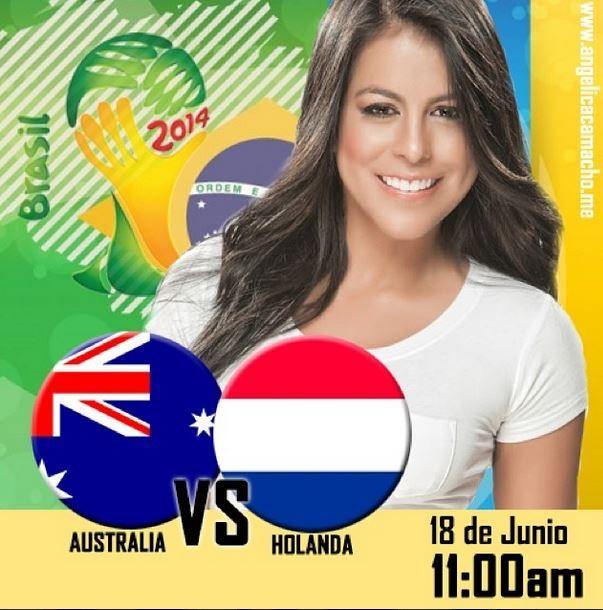 Están listos para #AUSvsNED los espero en mi Twitter @Angelica Camacho para comentar el partido juntos #AsiVaElMundial