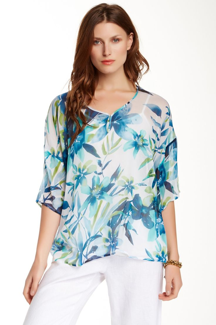 Iolani Floral Silk Blouse by Tommy Bahama on @nordstrom_rack