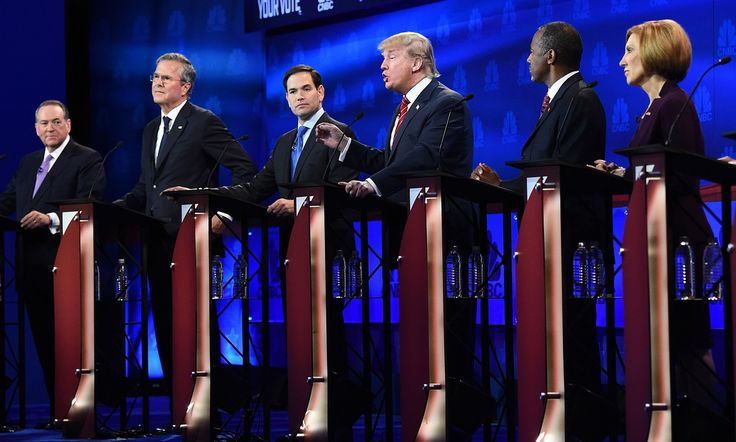Trump, Rubio, Cruz and Carson ganged up on CNBC and the mainstream media for political biases as debate moderators grilled candidates on their fiscal policies