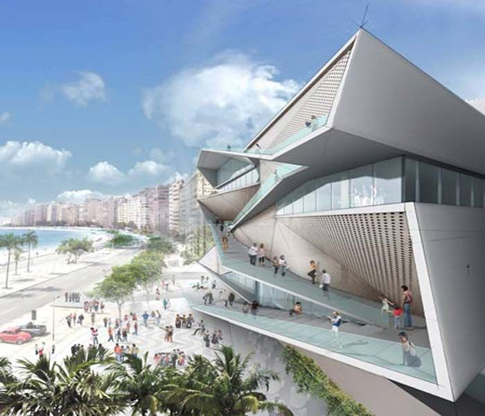 New architectural design museum by new york architects for Latest architectural house designs