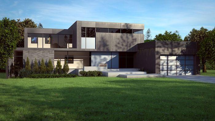 Bekannt haus modern gestalten, außen und innendesign ideen, graues haus CF17