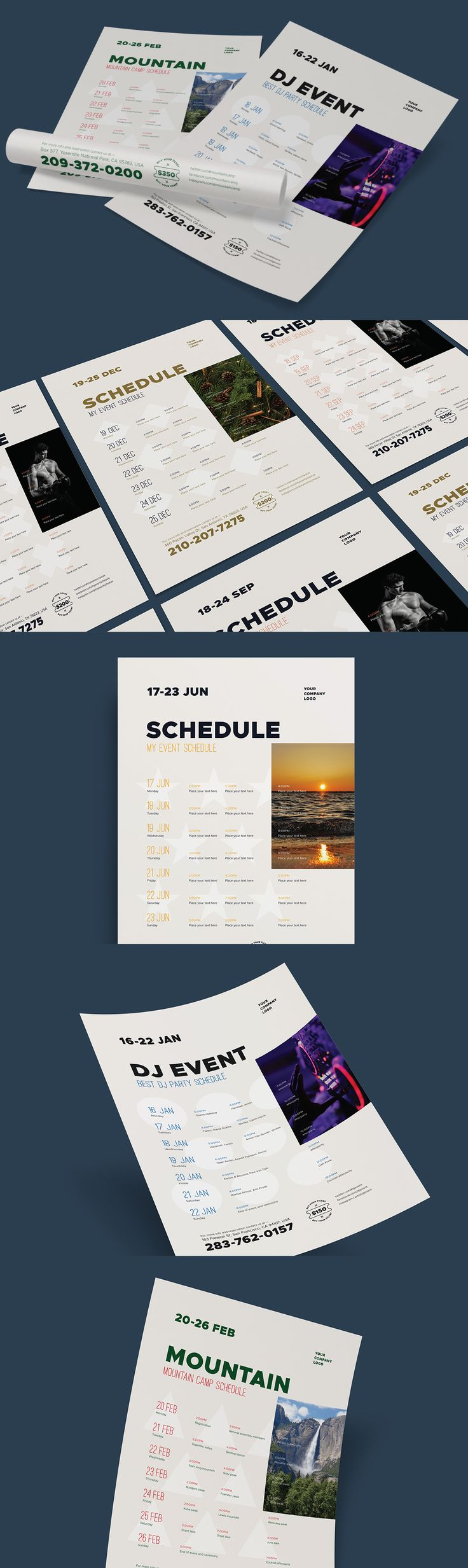 Schedule Event Poster Template AI, EPS